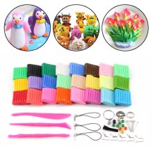 Convenient Oven Bake Polymer Clay Modelling Moulding Tool Set 24Colour