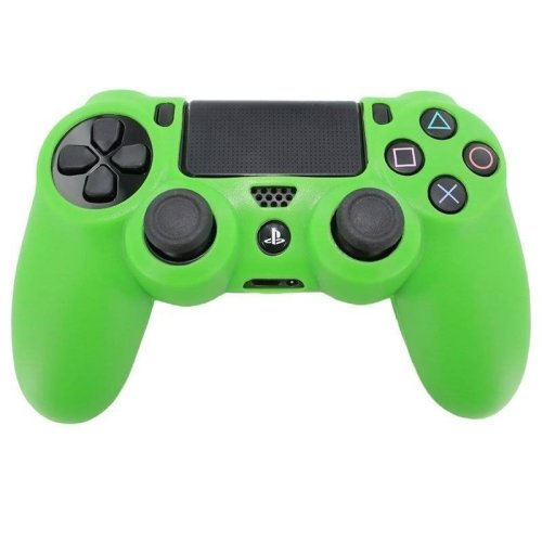 ZedLabz Green Silicone PS4 Controller Grip | Soft PS4 Controller Cover