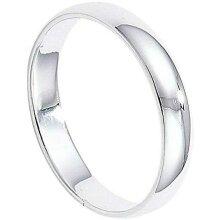 4mm Wedding Band Ring Sterling Silver Rhodium Plated 925 hallmark Sizes J - R
