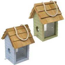 Gardman A04334 Beach Hut Seed Feeder - Green/blue
