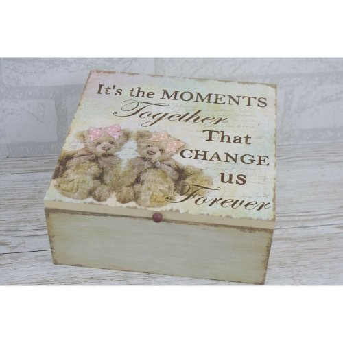 Memory Keepsake Box Chest It's The Moments Together