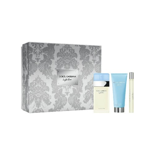 Dolce and Gabbana Light Blue For Women 2018 - Gift Set With 100ml EDT Spray, 100ml Body Cream and 10ml Travel Spray