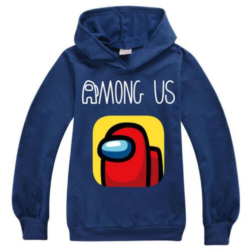 (Dark Blue, 7-8 Years) Among Us Kids Boys Hoodies Hooded Jumper Sweatshirt Gaming Casual Pullover Tops