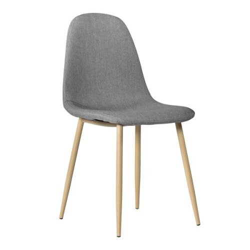 4pcs Modern Style Simple Dining Chair Gray