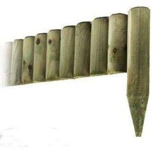 Abaseen 6x 1M Log Roll Border Picket Fence Edge Garden Lawn Edging