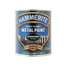 Hammerite HFBL750 Direct to Rust Hammered Finish Metal Paint Black 750ml