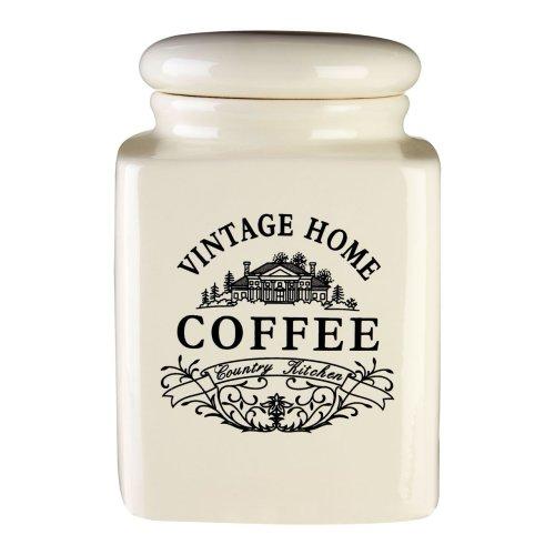 Vintage Home Coffee Jar | Cream Vintage Coffee Canister