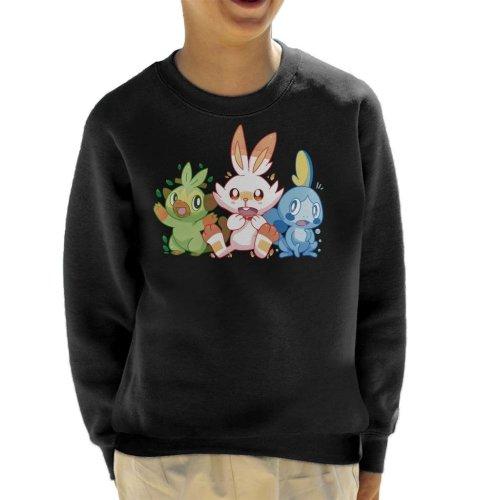Pokemon Starters Scorbunny Sobble Grookey Kid's Sweatshirt