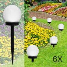 Solar Round Ball Globe LED Garden Path Ground Lights Stake Lighting