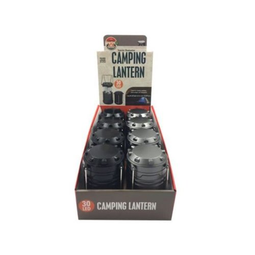 Kole Imports OS918-8 7 x 3.5 in. 30 LED Camping Lantern Countertop Display - Pack of 8