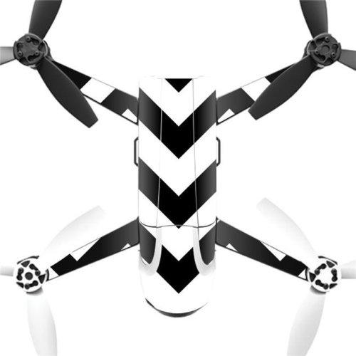 MightySkins PABEBOP2-Black Chevron Skin Decal Wrap for Parrot Bebop 2 Quadcopter Drone - Black Chevron