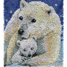 Polar Bear Rug Latch Hooking Kit (64x48cm blank canvas)