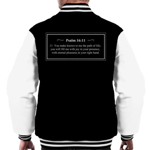 Religious Quotes The Path Of Life Psalm 16 11 Men's Varsity Jacket