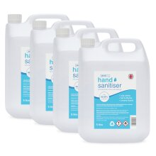 4 x 5L Hand Sanitiser Gel 70% Alcohol - British Manufactured