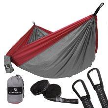 SONGMICS Parachute Nylon Camping Hammock 275x140cm Holds Up to 300 kg GDC14GR
