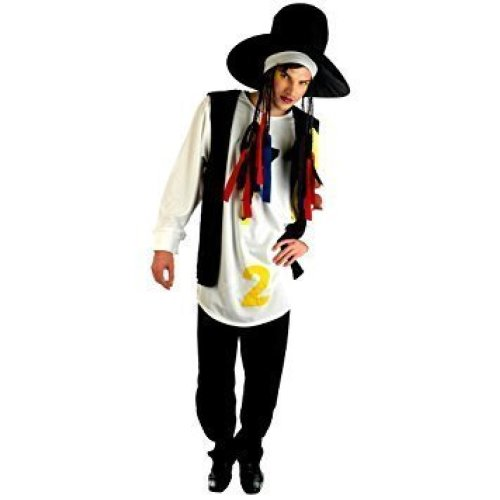 Boy George Hat with Braids Adult 80s Halloween Costume Fancy Dress