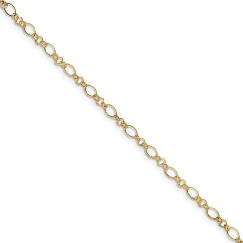 Quality Gold ANK221-10 9 in. 14K Yellow Gold Anklet with 1 in. Extension