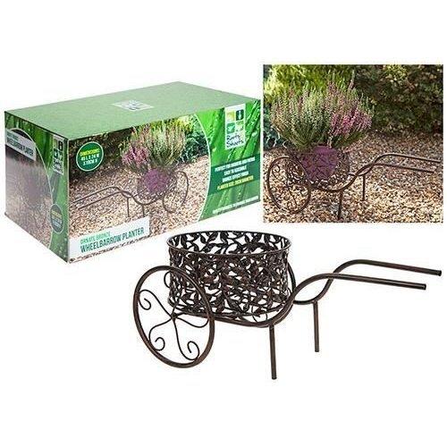 Decorative Ornate 20cm Wheelbarrow Garden Plant Stand Pot Holder -  decorative ornate 20cm wheelbarrow garden plant stand pot holder
