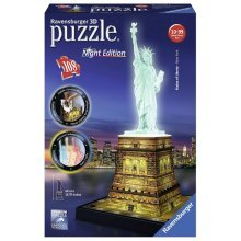 3D Jigsaw Puzzle - Statue of Liberty by Night