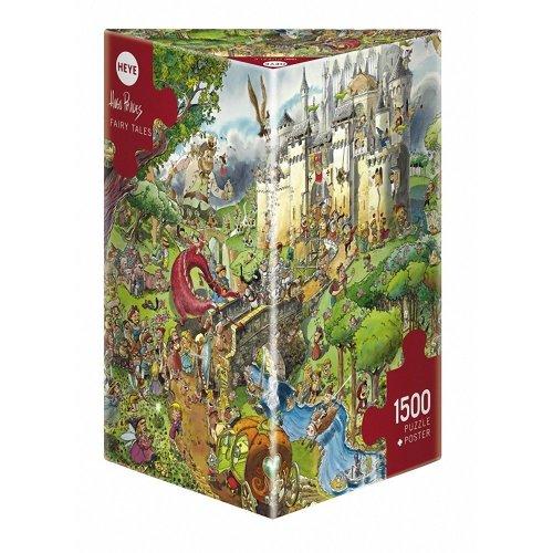 Hy29414 - Heye Puzzles - Triangular , 1500 Pc - Fairy Tales, Prades