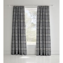 Catherine Lansfield Kelso Easy Care Pencil Pleat Curtains Charcoal, 66x72 Inch