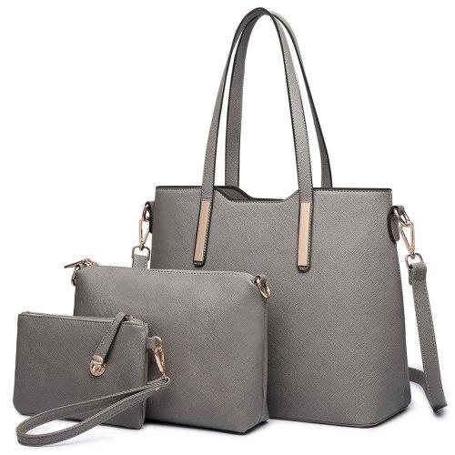 3pc Miss Lulu Women's PU  Leather Handbag Set