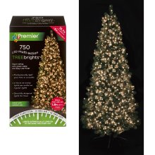 750 LED Christmas TREE Brights Timer Lights Multi Action by Premier - Warm White