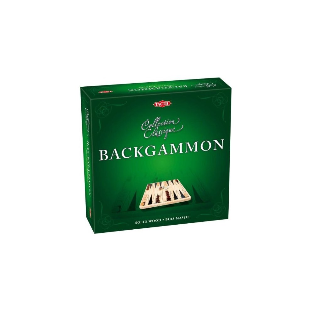 Tactic Wooden Backgammon Game - Collection Classique