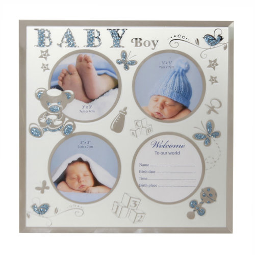 Beautiful baby Girl New Baby 6/'x4/' Photo Frame with Silver Teddy Attachment