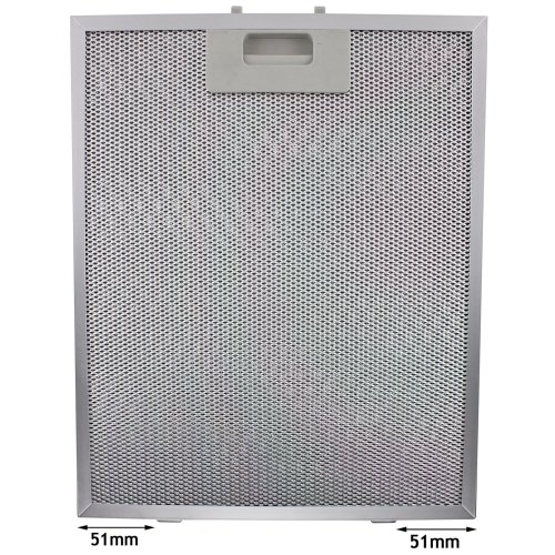Spares2go Universal Cooker Hood Metal Grease Filter (Silver, 320 x 260mm)