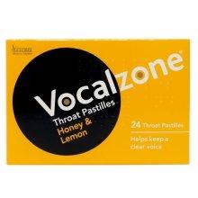 Vocalzone Throat Pastilles Honey & Lemon (24 Pastilles)