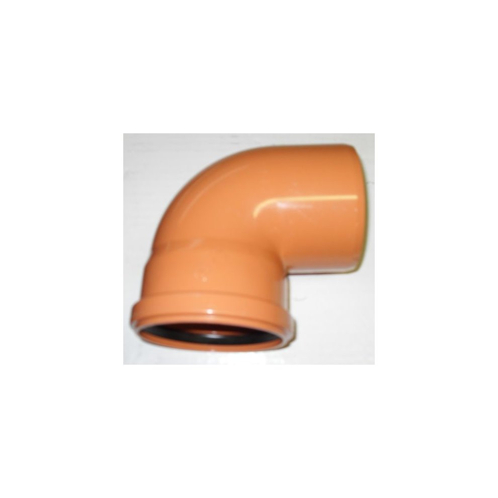 "Underground Push-Fit Brown Soil Pipe 110 mm 4/"" 90 degree Bend"