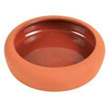 Ceramic Bowl With Rounded Rim, 125 Ml/ø 10cm - Trixie Rimml Terracotta Frame -  trixie ceramic bowl rounded rim 125 ml terracotta frame various sizes