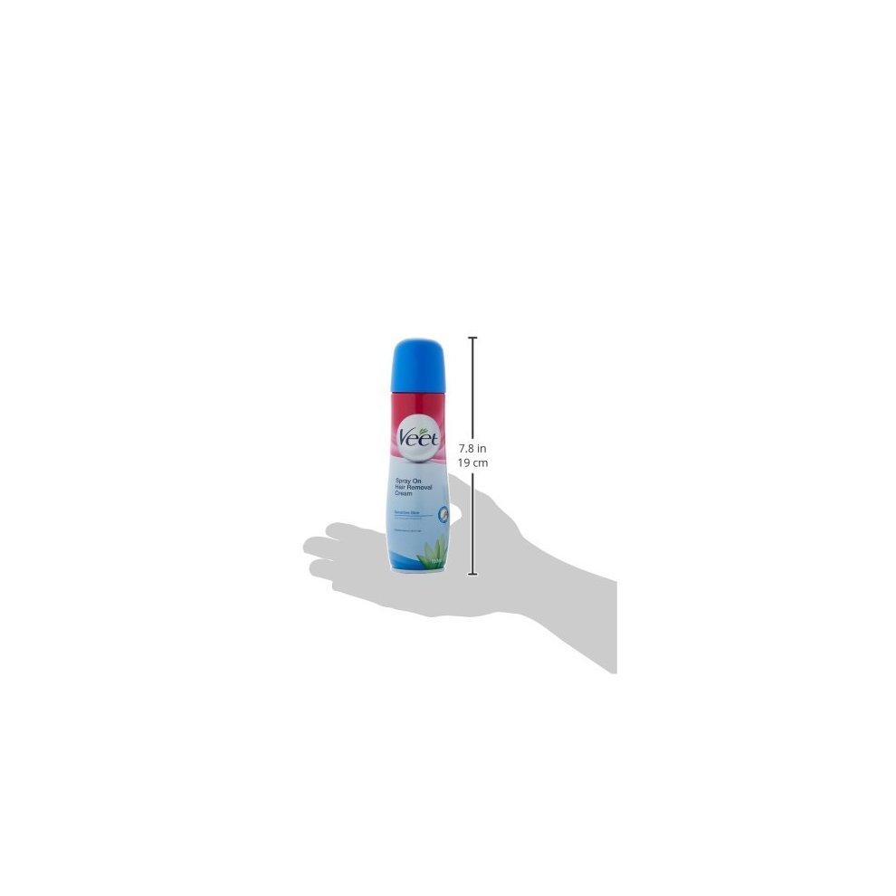 Veet Spray On Hair Removal Cream For Sensitive Skin 150 Ml On Onbuy