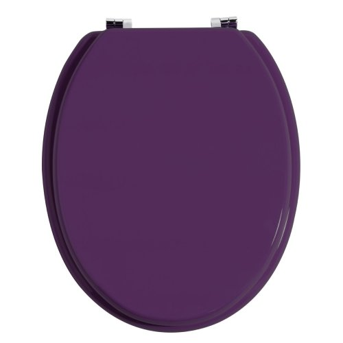 Toilet Seat MDF With Zinc Alloy Fittings, Purple
