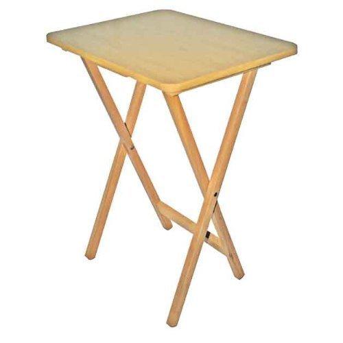 Folding Wooden TV Table Fold Up Desk Side Travel Laptop Coffee Picnic