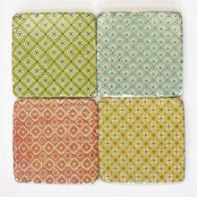 Sass & Belle Set of 4 Modern Morocco Tile Coasters