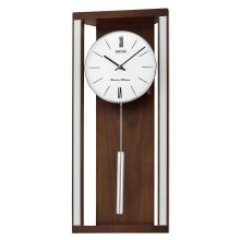 Seiko QXH068B Dual Chimes Wooden Wall Clock with Pendulum
