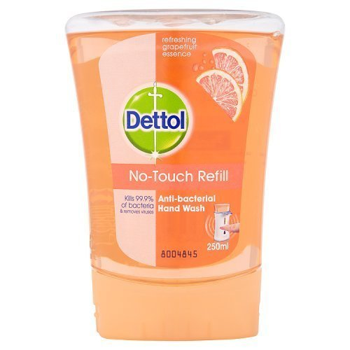 Dettol No-Touch Refill Anti-Bacterial Hand Wash, Grapefruit, 250 ml
