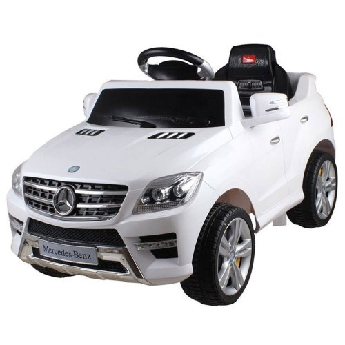 Licensed Mercedes ML350 6V Electric Ride on Kids Car with Remote White