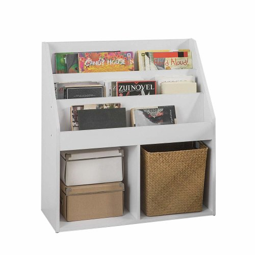 SoBuy KMB01-W Children's White Book Display | Small White Bookcase