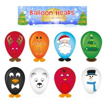 Christmas Children's Party Loot Bag / Pinata / Stocking Fillers - 8 x Balloon Heads