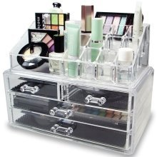 LaRoc 4-Drawer Cosmetic Organiser | Acrylic Makeup Holder With Drawers