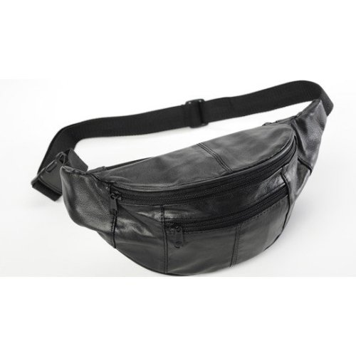 """Men's Leather Bumbag : Made by Forest Leather : Up to 42"""" Waist (9013)"""