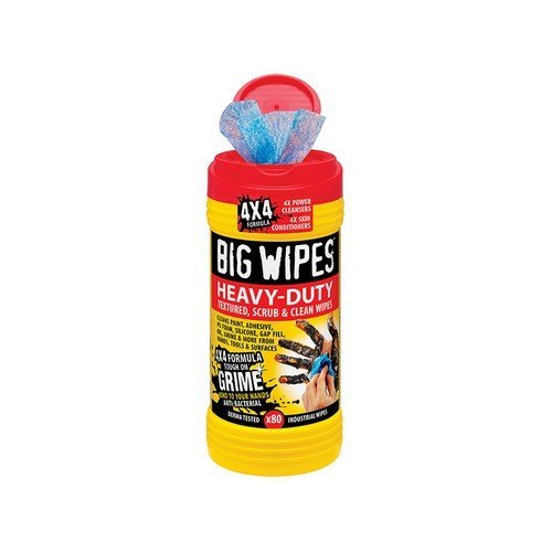 Big Wipes 2420 0000 4x4 Heavy-Duty Cleaning Wipes Tub of 80
