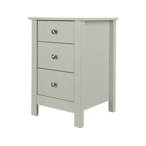 Bedside Table 3 Drawer Chest Cabinet Storage End Side Night Stand Bedroom Grey