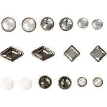 Deco Rivets, size 8-18 mm, White, 16mixed Card Making Scrapbooking Craft