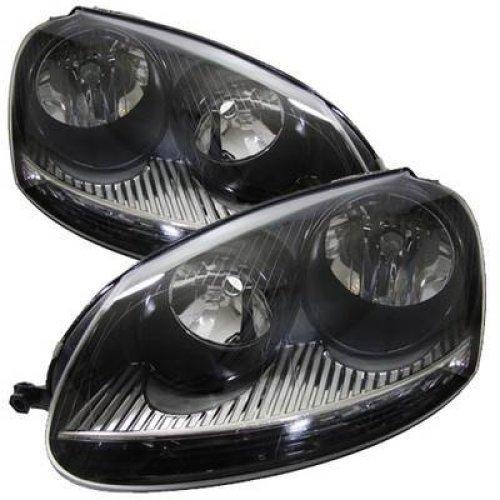 Volkswagen Golf Mk5 2003-2009 Black Inner Headlights Headlamps 1 Pair O/s & N/s