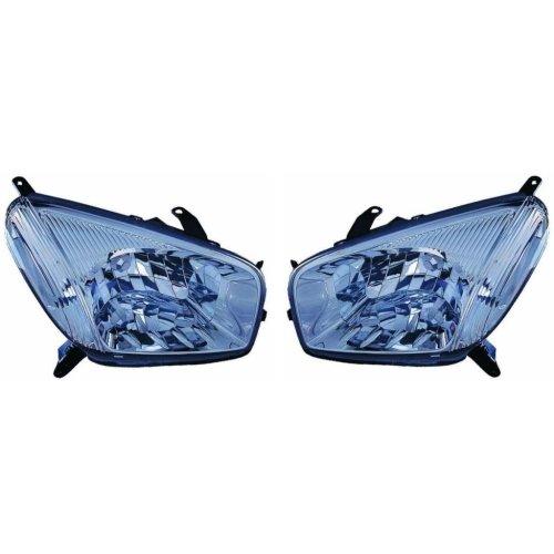 Toyota Rav-4 2000-2003 Headlights Headlamps 1 Pair O/s & N/s