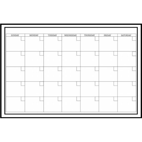 WallPops WPE0447 24 X 36 White Calendar Monthly Wall Decals